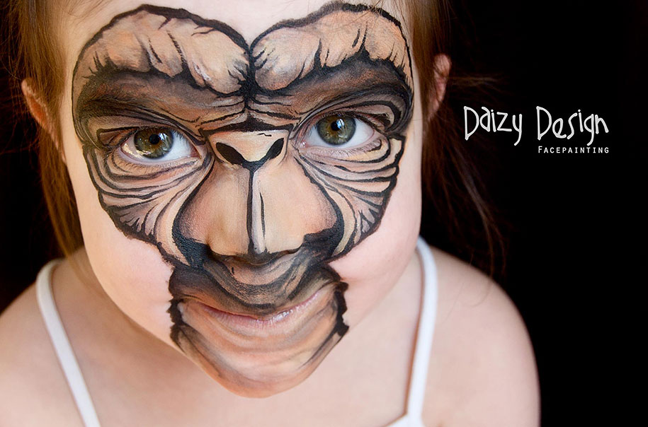 New Zealand Artist Turns Children's Faces Into Fantastic Creatures