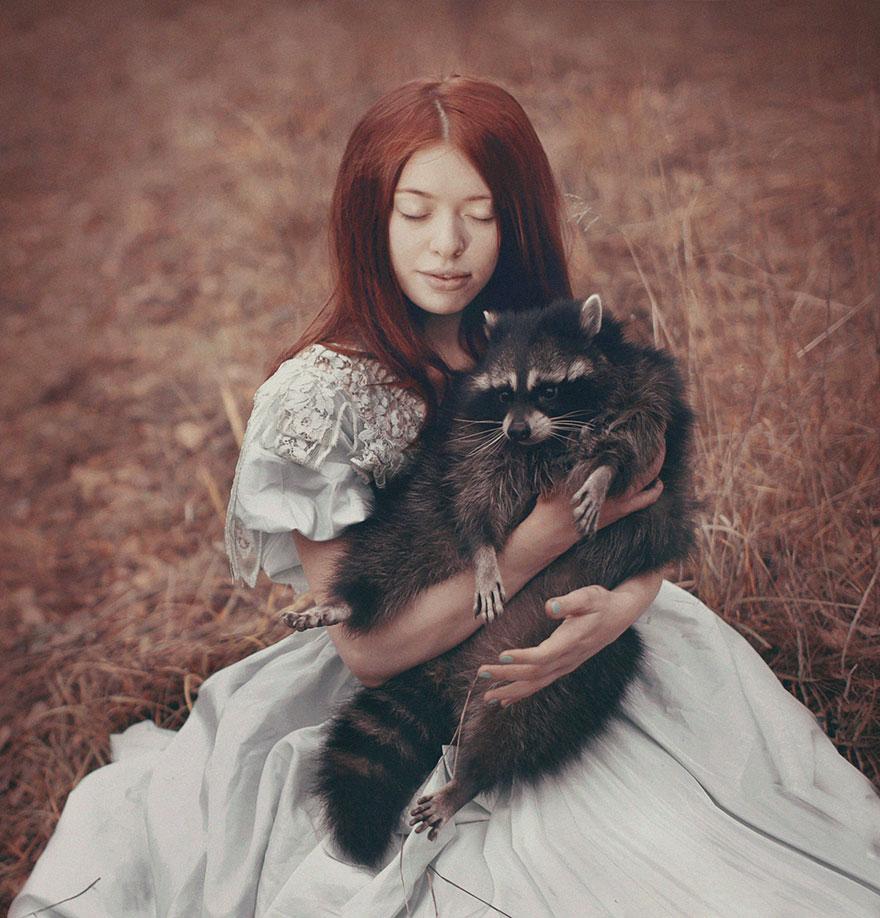 Опасные портреты с дикими животными от Катерины Плотниковой-15