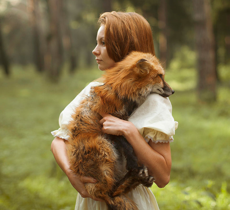 Опасные портреты с дикими животными от Катерины Плотниковой-6