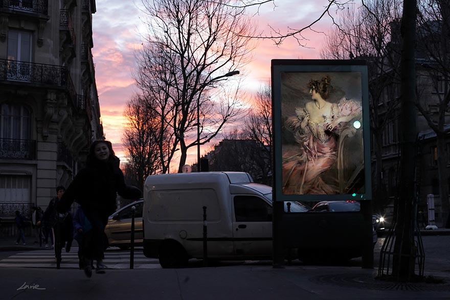 Классическая живопись вместо рекламных плакатов-5