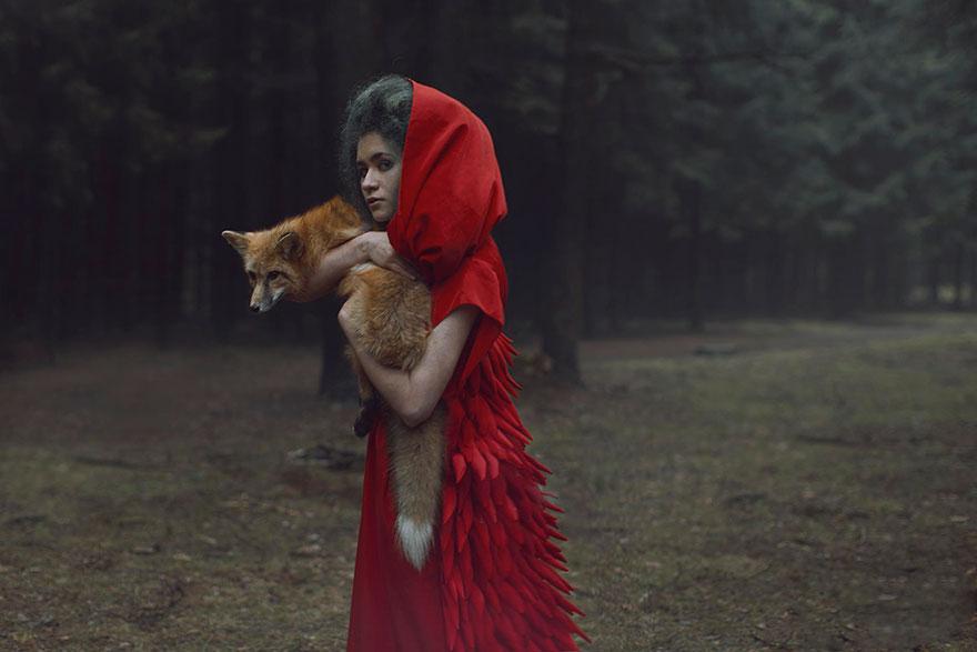 Опасные портреты с дикими животными от Катерины Плотниковой-16