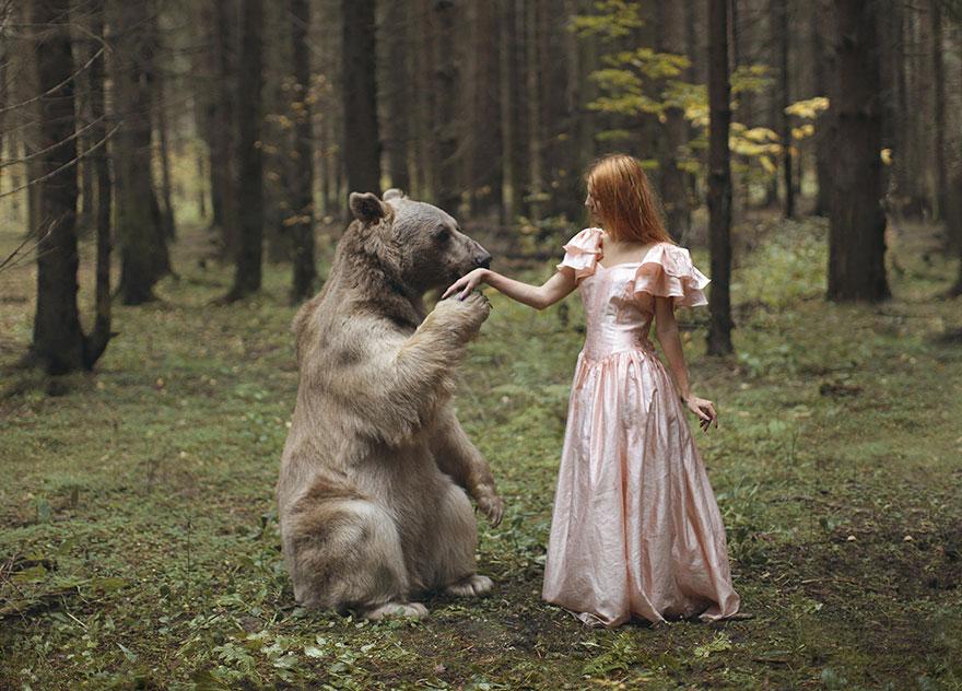 Опасные портреты с дикими животными от Катерины Плотниковой-1