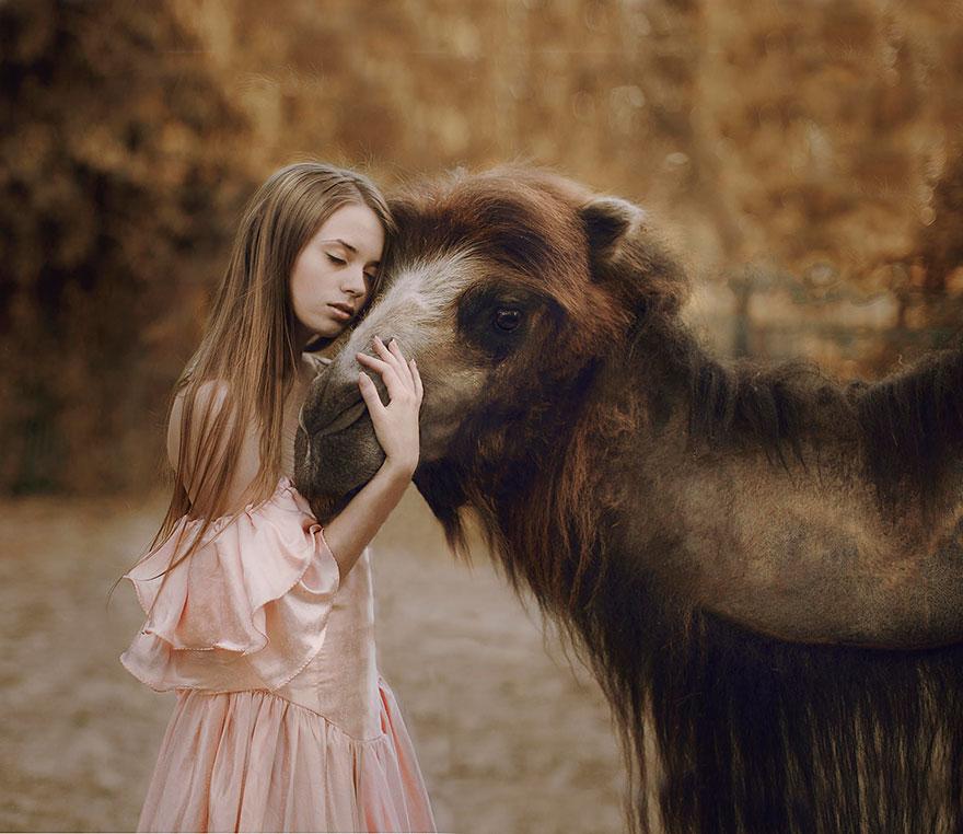 Опасные портреты с дикими животными от Катерины Плотниковой-7