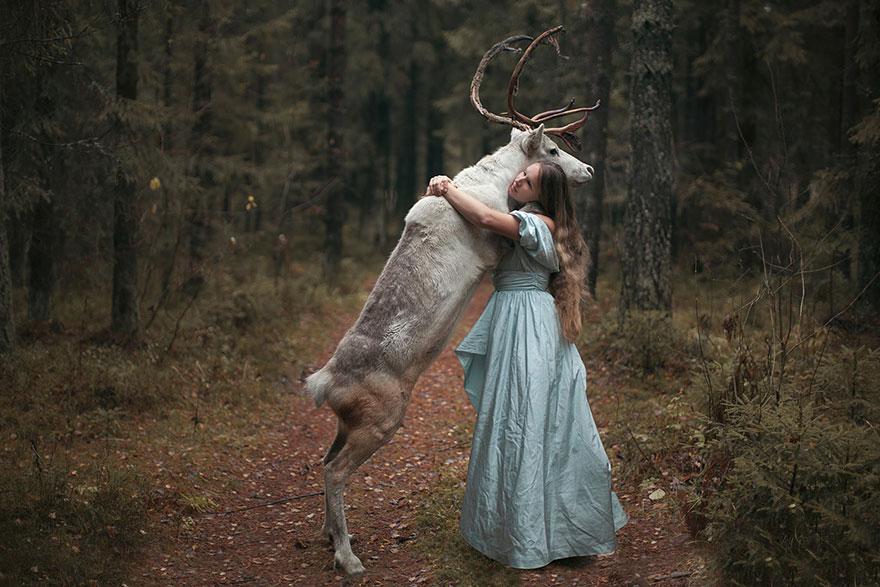 Опасные портреты с дикими животными от Катерины Плотниковой-23