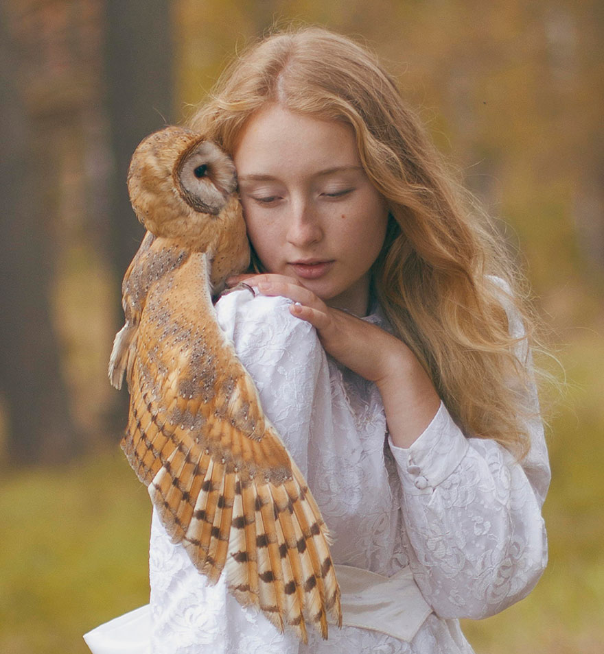 Опасные портреты с дикими животными от Катерины Плотниковой-11