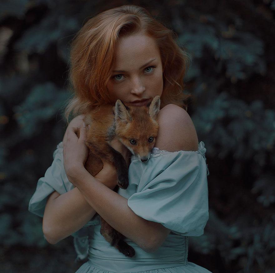 Опасные портреты с дикими животными от Катерины Плотниковой-4