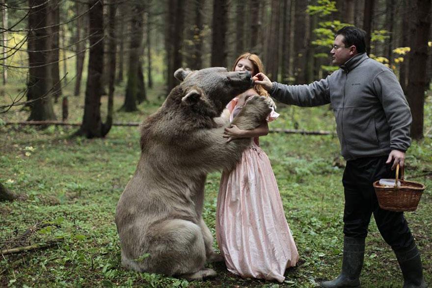 Опасные портреты с дикими животными от Катерины Плотниковой-22