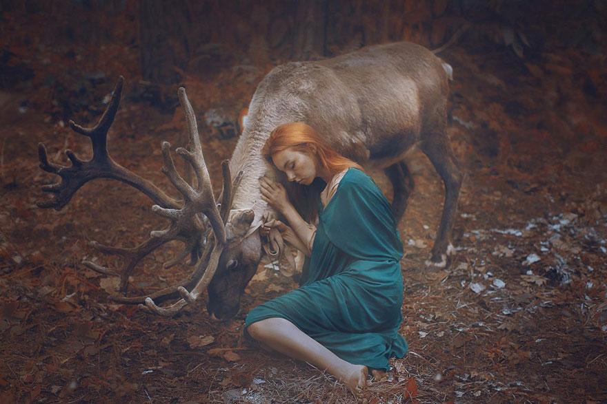 Опасные портреты с дикими животными от Катерины Плотниковой-5