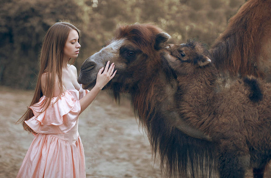 Опасные портреты с дикими животными от Катерины Плотниковой-8