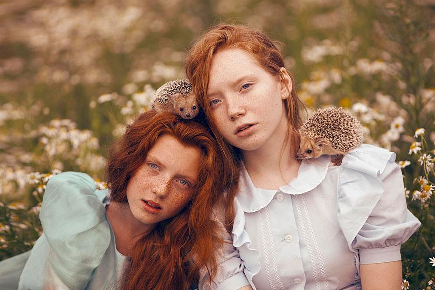 Опасные портреты с дикими животными от Катерины Плотниковой-10