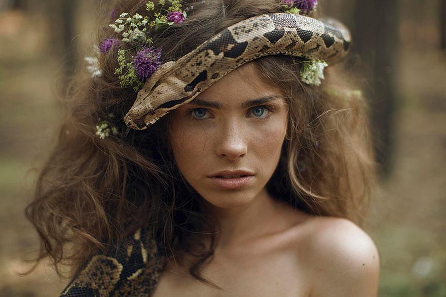 Опасные портреты с дикими животными от Катерины Плотниковой-3