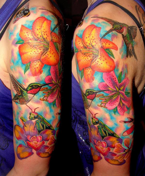 Жизнерадостные татуировки с колибри - 55 фото