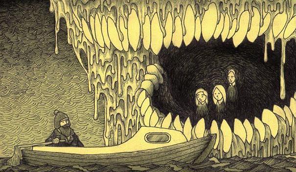 Страшные монстры из детских кошмаров в рисунках Джона Кенна Мортенсена