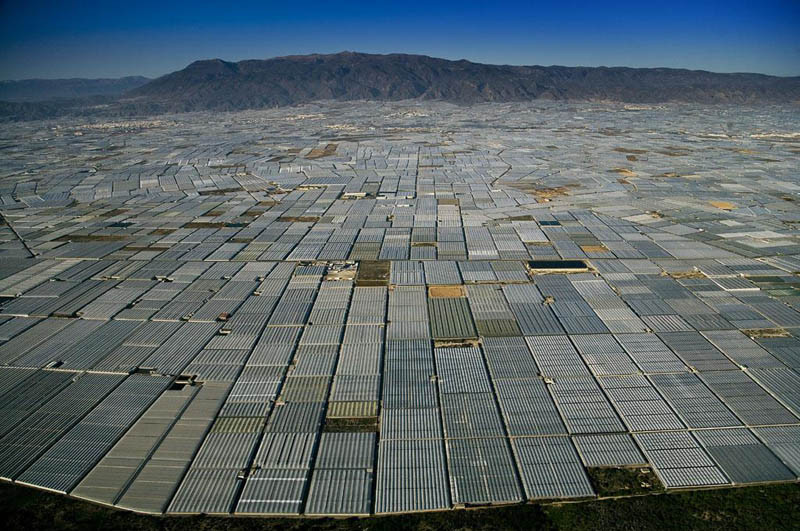 Greenhouses in San Augustin near Almeria, Andalusia, Spain