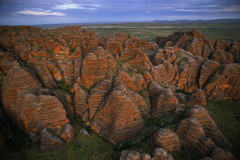 Rock formations Bungle Bungles in Purnululu National Park in the Kimberley, Australia