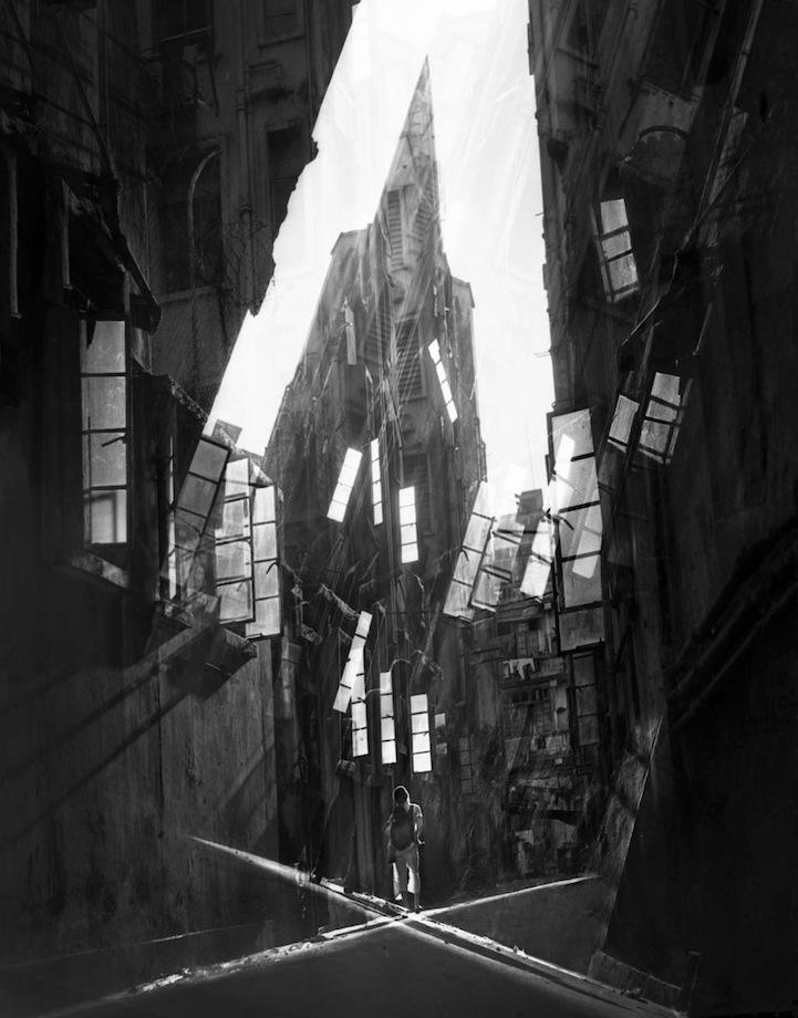 Чёрно-белые ретро фотографии Гонконга 1950-х и 1960-х годов