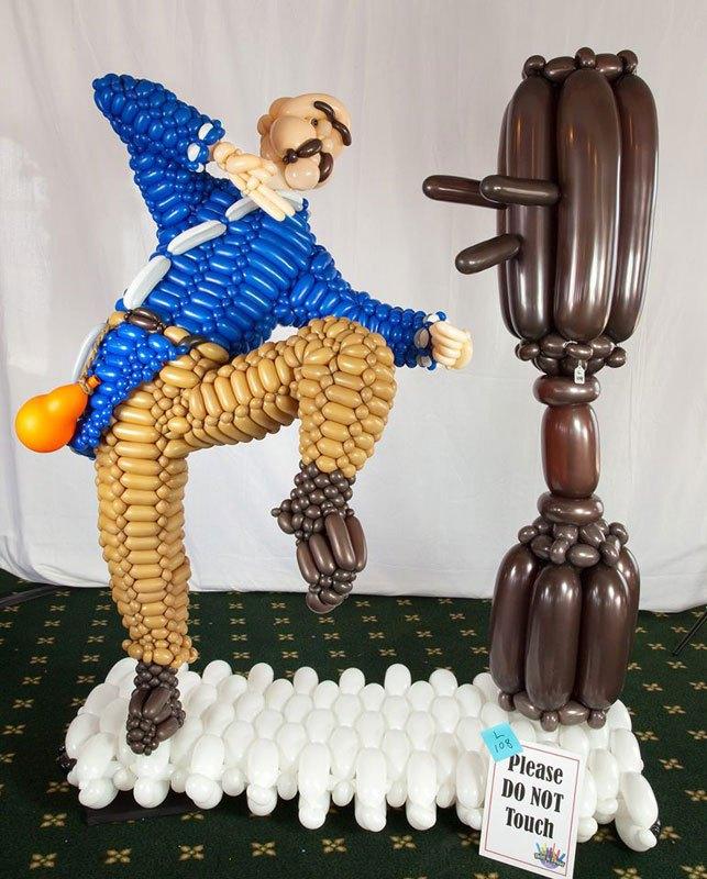Скульптуры Джейсона Секода из воздушных шаров