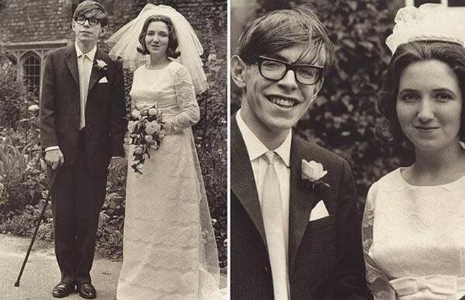 Свадьба Стивена Хокинга и Джейн Уайльд
