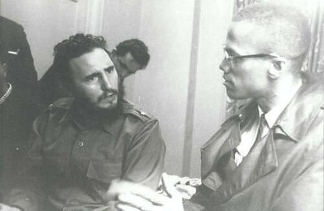 Фидель Кастро и Малькольм Икс в 1960 году