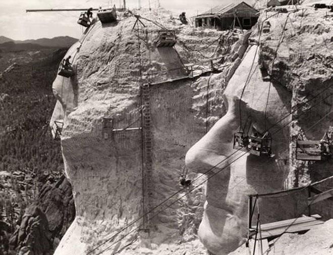 Работы на горе Рашмор в 1939 году