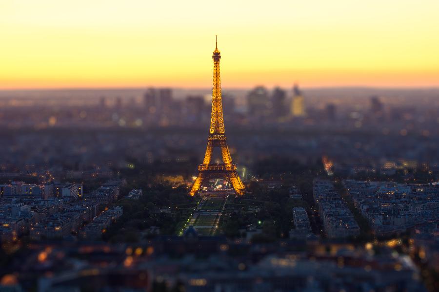 Париж тилт-шифт
