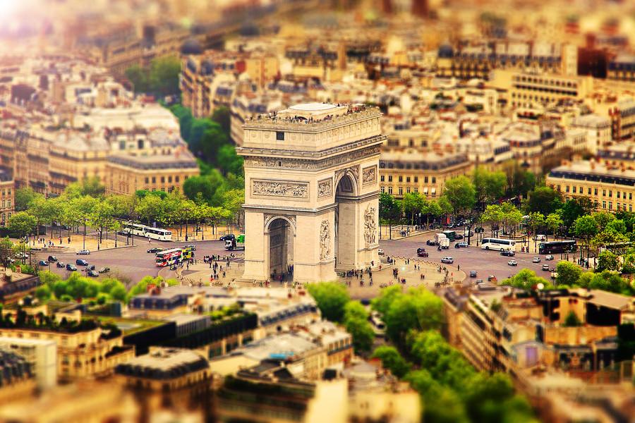 Париж тилт-шифт 2