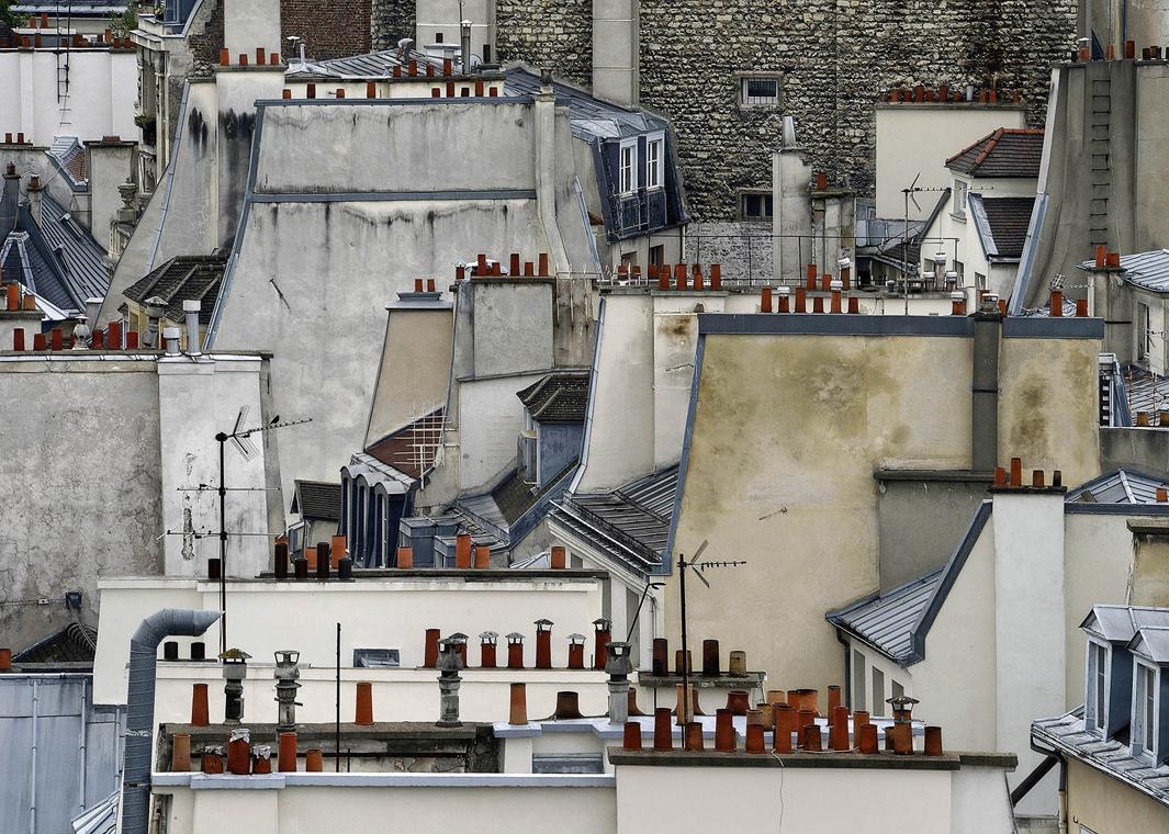 В Париже даже крыши красивые. Фотограф Майкл Вольф - 1