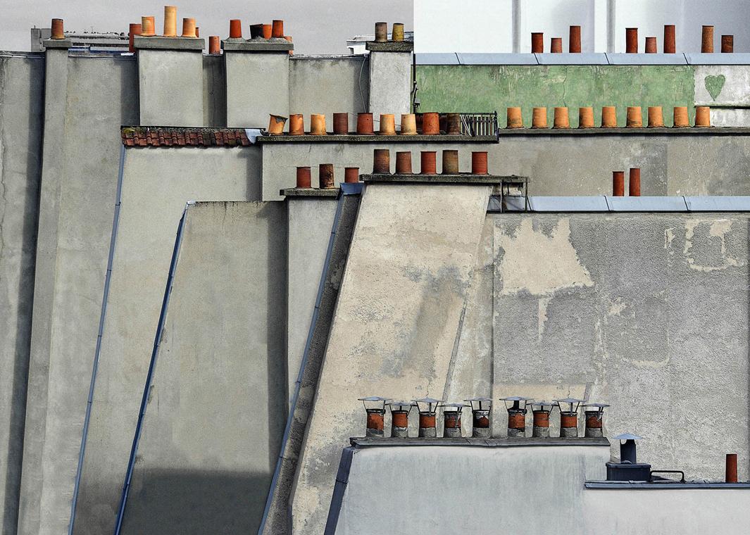 В Париже даже крыши красивые. Фотограф Майкл Вольф - 3