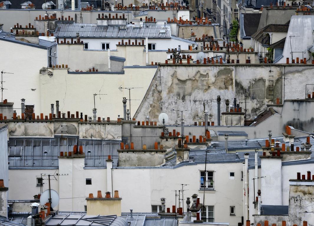 В Париже даже крыши красивые. Фотограф Майкл Вольф - 5
