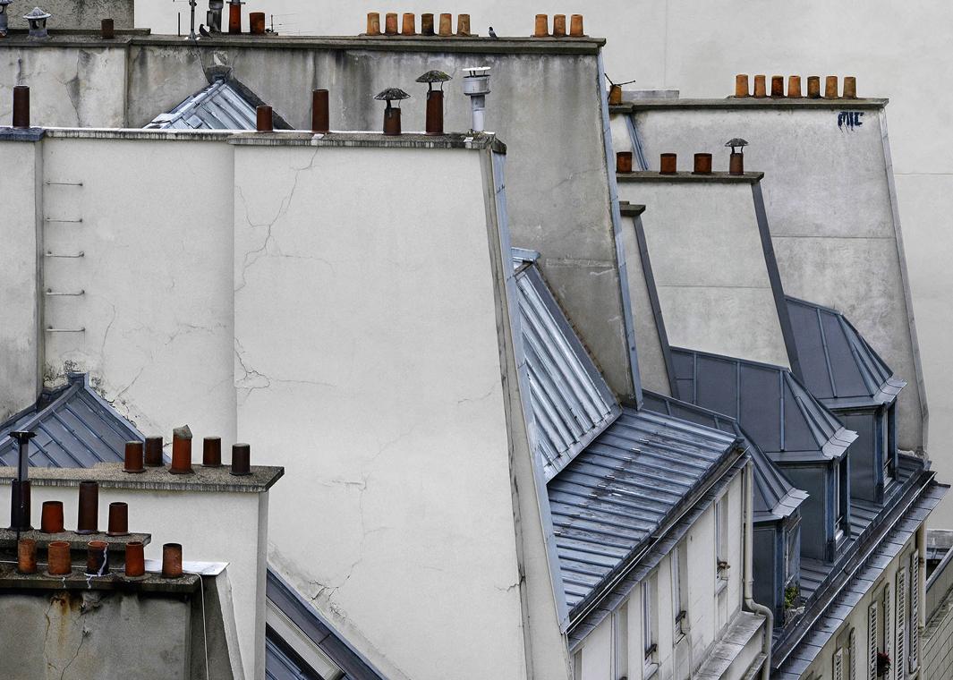 В Париже даже крыши красивые. Фотограф Майкл Вольф - 2