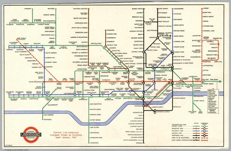 схемой Лондонского метро.