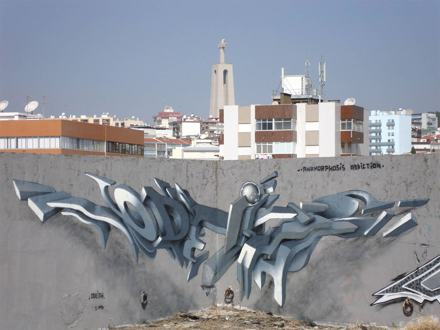 Граффити 3D в уличном искусстве Португалии