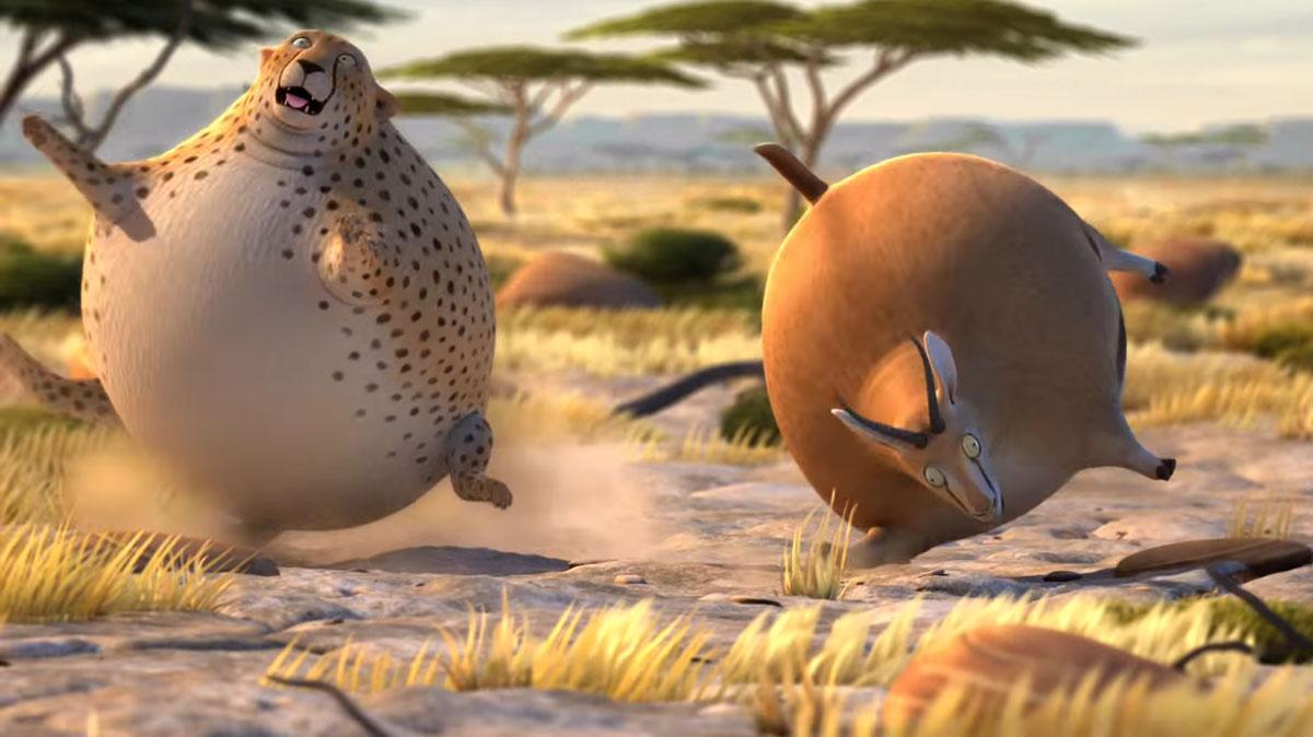 Антилопа и гепард