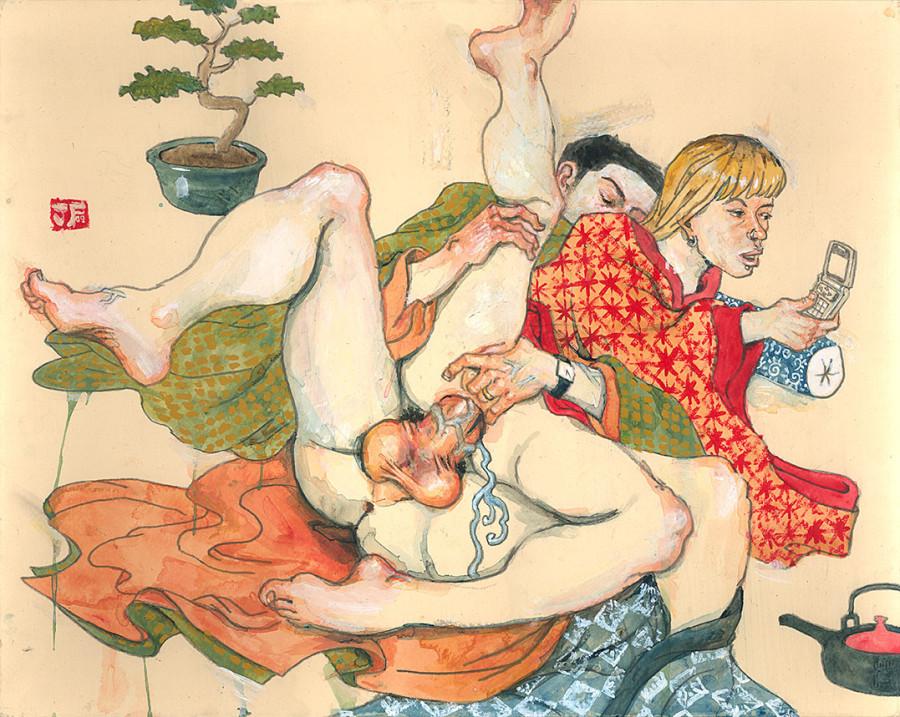 Японская камасутра эротика рисунки 9 фотография