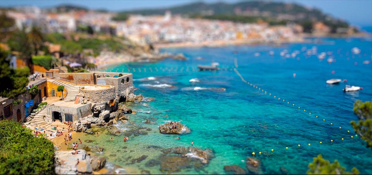 Самые красивые пейзажи Каталонии в видео тилт-шифт-2