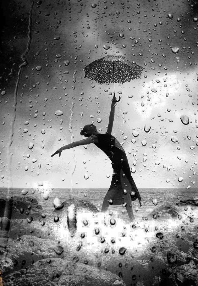 Танец под дождём.