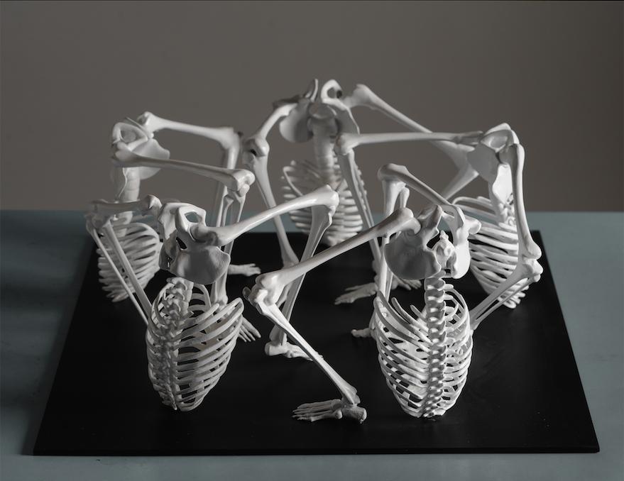 3D скульптуры из человеческих костей от Моники Хорчиковой