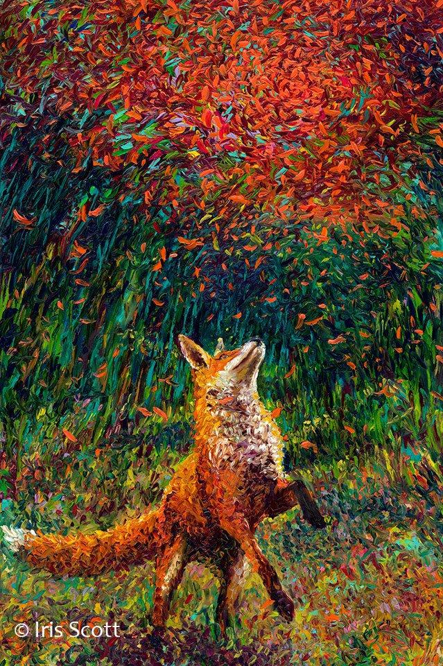 Художница Айрис Скотт виртуозно рисует пальцами (1)