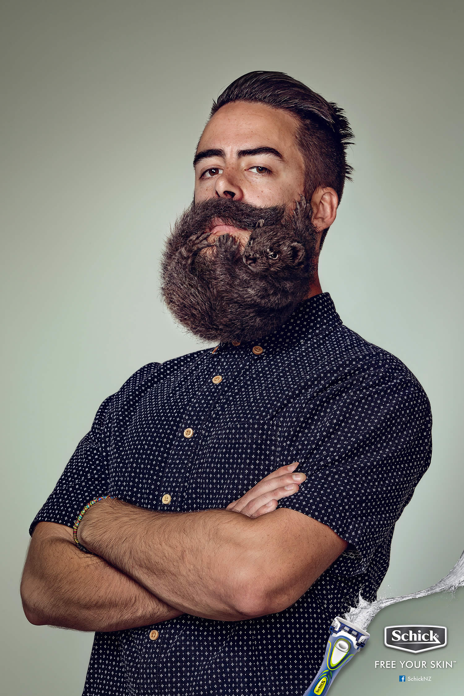 Борода в тренде? Креативная реклама Schick