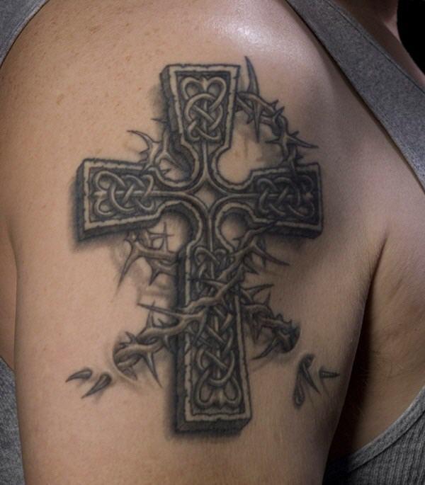 Татуировки кресты фото и значение