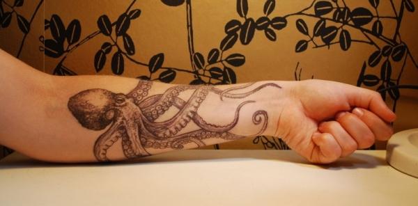 55 классных татуировок с изображением осьминога
