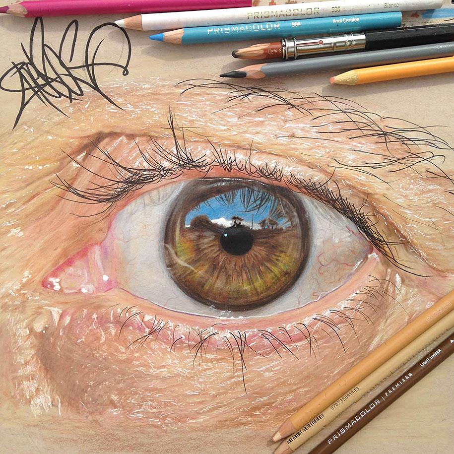 Как сделать фото цветными карандашами 34
