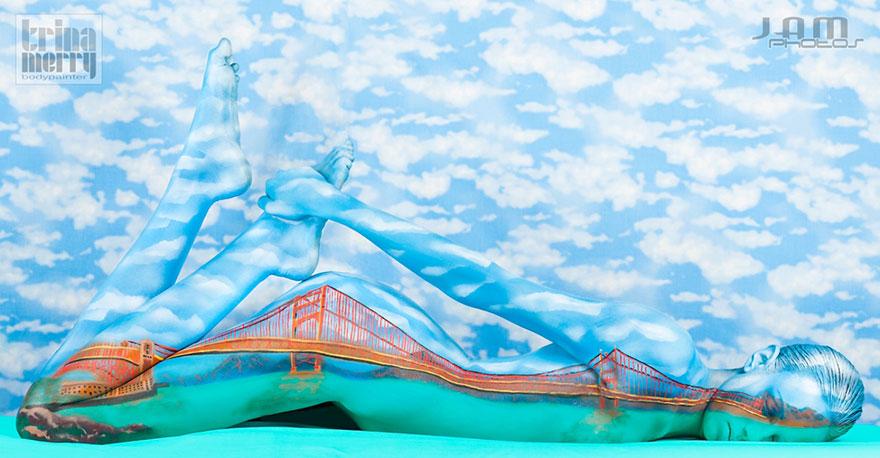 Искусство иллюзии и боди-арта от Трины Мерри