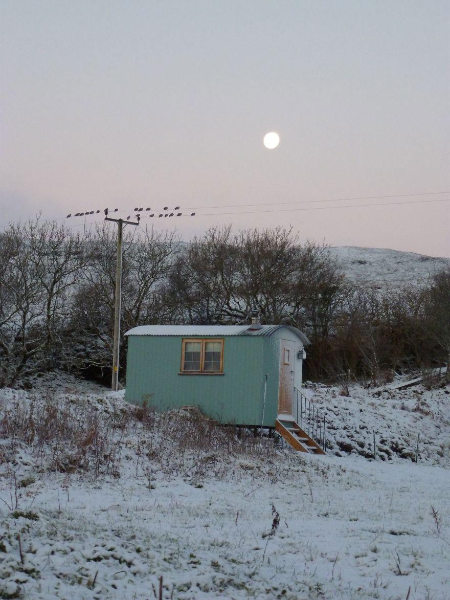 Пастушья хижина на острове Скай, Шотландия