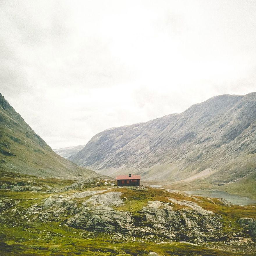 Уединённый домик, Норвегия