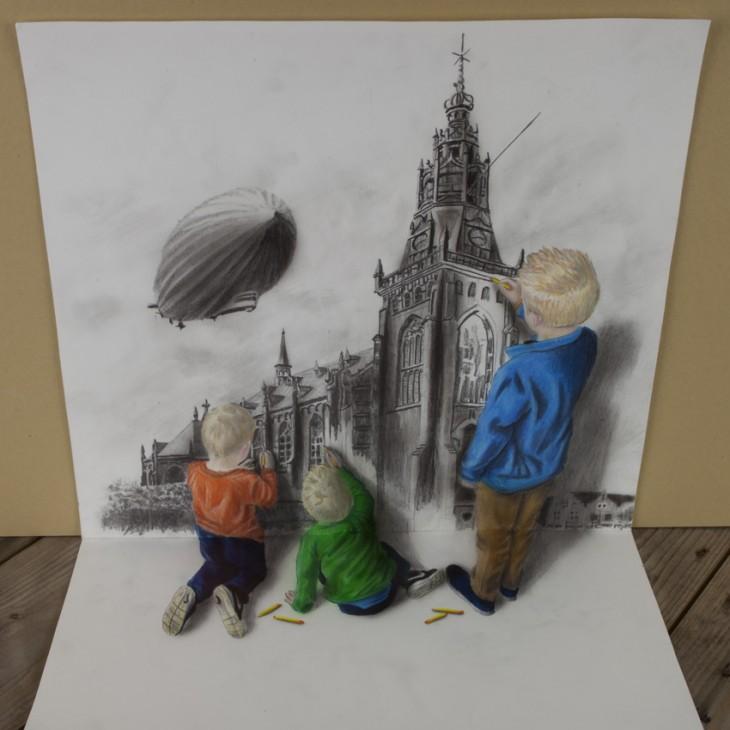 Многоуровневые иллюзии в 3D рисунках Рамона Брюина - 4