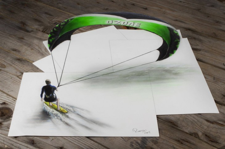 Многоуровневые иллюзии в 3D рисунках Рамона Брюина - 5