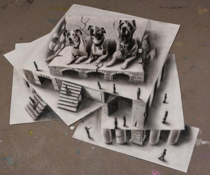 Многоуровневые иллюзии в 3D рисунках Рамона Брюина - 6