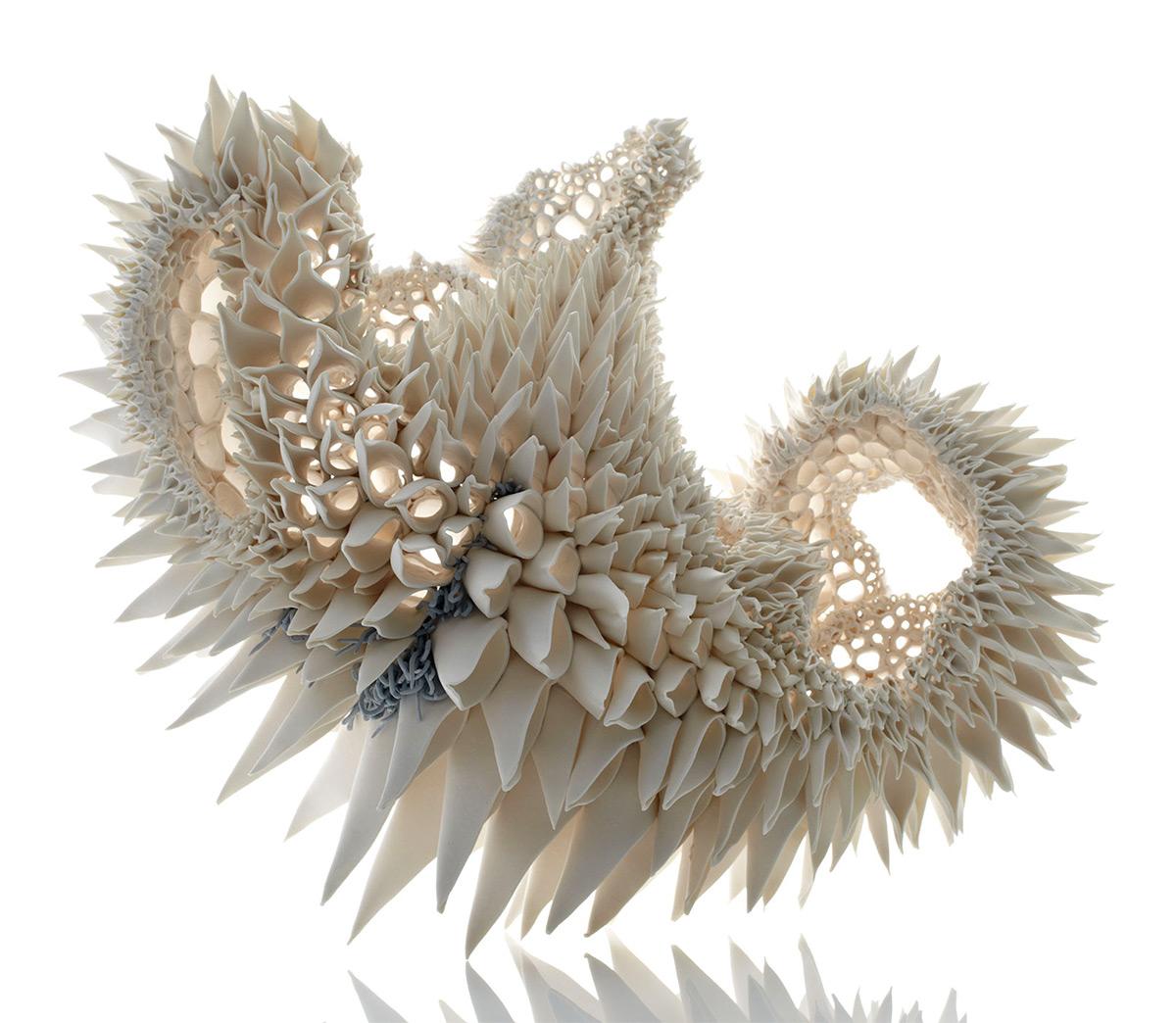 Фрактальные фарфоровые скульптуры Нуалы О