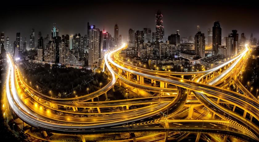 Шанхай ночью